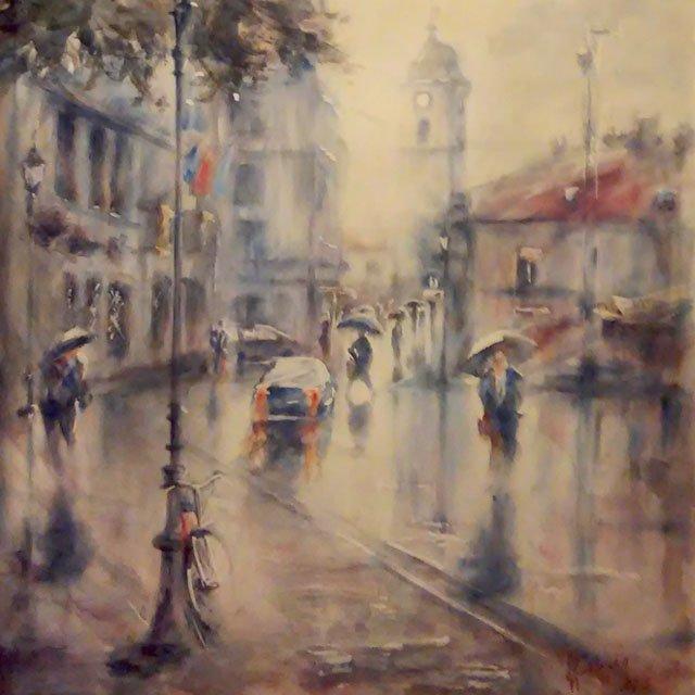 Beauty Sense Obrazy akwarelowe Fara w deszczu